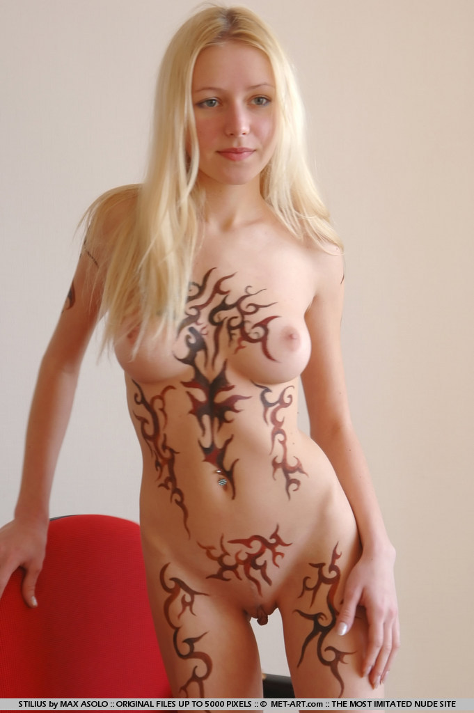 Woman body nude paint really