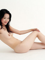 wonderful shoot of gorgeous asian model with nothing around but white.